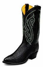 Tony Lama CZ910 Men's Smooth Ostrich Western Boots (Black) size 8EE