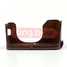 Coffee Leather Half Case Bottom Cover Grip For FUJIFILM X100T X100S X100