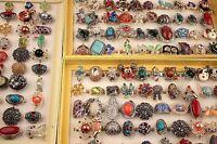 25 stk Großhandel Jahrgang Retro gemischt Damen Metalllegierung Schmuck Ringe