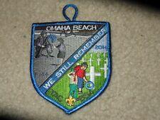 Boy Scout BSA Transatlantic Omaha Beach World War 2 2014 Trail CP Council Patch