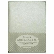 Metallic Silver 5 X 7 Cards and Envelopes Dovecraft DCCE 003