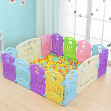 Baby Playpen 14 Panel Kid Activity Center Safety Play Yard Pen Foldable Design A