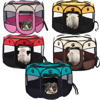 1x Portable Light Weight Pop Up Dog Pet Kennel House Travel Cage Puppy Cat Pet M