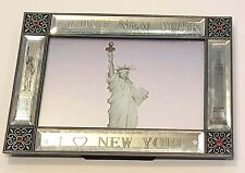 Picture Frame with I love NY, Statue of Liberty and Empire State Building, NYC