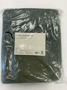 """West Elm Cotton Velvet Curtain Dark Olive 48""""x84"""""""