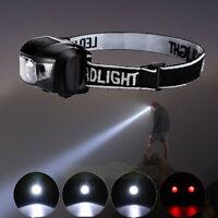Headlamp Head Torch Battery Operated Light Lamp Waterproof Outdoor Flashlight