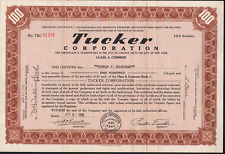 Stk Tucker Corporation.1948 100 share Brown  Made 51 Automobiles in Illinois