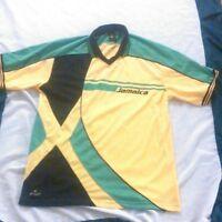 Men's sun island sport jamaica bright polo size large