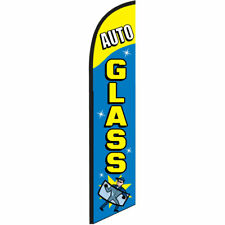 Auto Glass Here 12ft Feather Banner Swooper Flag, Replacement Flag ONLY