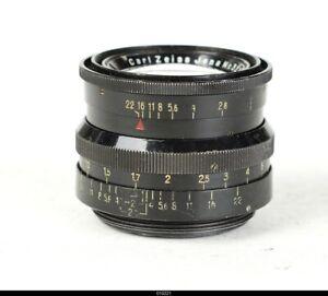 Lens Zeiss Black Paint Biotar 2/5,8cm 58mm Red T For Pentax M42