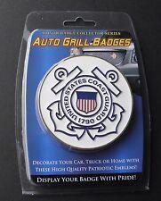US COAST GUARD USCG QUALITY CAR GRILL METAL ENAMEL MEDALLION 3 INCHES