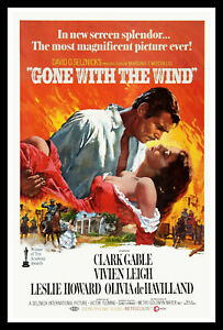 Gone With The Wind Vintage Movie Poster Print & Unframed Canvas Prints