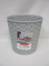 New Curver My Style Storage Basket Plastic Small Mini Waste Bin Rnd 232439 Grey