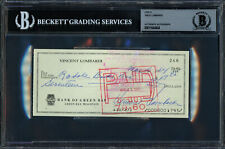 Vince Lombardi Autographed Signed 3x6 Check Green Bay Packers Beckett 11644404