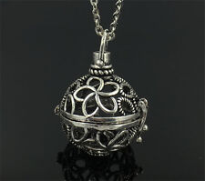 Silver Locket Necklace Fragrance Essential Oil Aromatherapy Diffuser Pendant AA