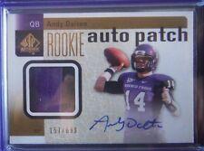 2011 SP Authentic AUTO PATCH Rookie *ANDY DALTON* RC! /699 TCU,Cincinnati 11 UD