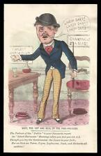 G22 - HAND-TINTED VICTORIAN MECHANICAL VINEGAR VALENTINE CARD WITH MOVING ARM