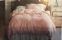 NEW SIMPLY SHABBY CHIC LINEN DUVET COVER RUFFLE SHAMS SET KING TWIN FULL QUEEN