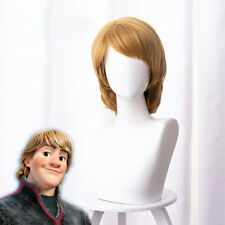 2019 Movie Frozen 2 Kristoff Cosplay Wigs Short Brown Curly Party Hair Halloween