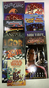 Lot of 14 GRAPHIC NOVEL COLLECTION SUPERMAN BATMAN SPEED RACER STAR WARS ALL NEW