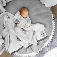 Baby Play Mat Newborn Soft Cotton Crawling Blanket Home Floor Rug Decor