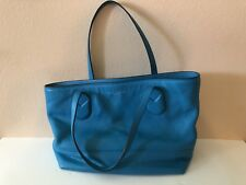 New Marc Jacobs Teal Classic Shopper Leather Tote Retail $350