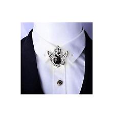 Men's Collar Brooch Pin Gift Vintage Crystal Eagle Pattern