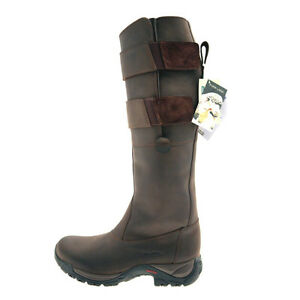 TUFFA COUNTRY RIDER LONG BOOTS BROWN ADULTS/CHILD SIZE HORSE PONY RIDING EQUINE