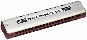 New TOMBO dragonfly chromatic harmonica 44 hole single S-50 from Japan