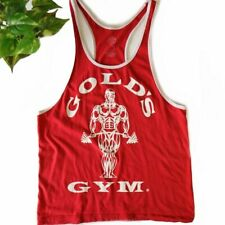 Golds Gym Red Racerback Tank Mens Size Small or Womans M/L