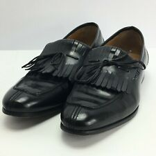 Zara Man Men's Black Leather Loafters with Tassles Size 10