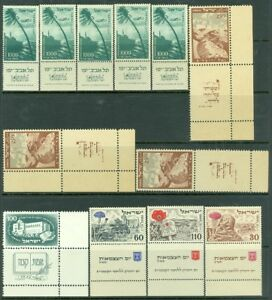 EDW1949SELL : ISRAEL Nice group of all VF Mint NH Better singles & Complete sets