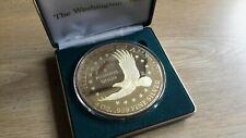 Washington Mint 24k Gold Layered 4oz Silver Liberty Coin