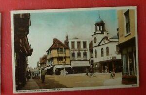 Postcard Faversham Market Place Sittingbourne Canterbury 1942 cycles