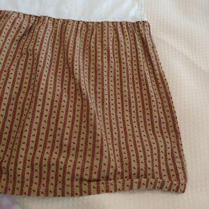 CHAPS by RALPH LAUREN Annabelle Floral Stripe FULL Bed Skirt Split Corner