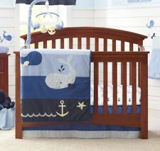 Nautica Kids Brody 4 Piece Crib Bedding Set & Diaper Stacker - Retails $179.99
