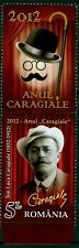 2012 CARAGIALE,Playwright,Bowler hat,Walking stick,Theatre,Romania,6595,TAB/T,NH
