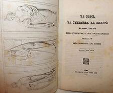 Arte Scultura, Rosetti: Fede Speranza Carità Bassorilievo Vidoni Ferrarese 1843