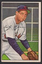 1952 Bowman #142 Early Gus Wynn HOF Cleveland Indians baseball card