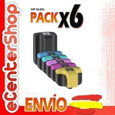6 Cartuchos de Tinta NON-OEM HP 363XL - Photosmart 8250