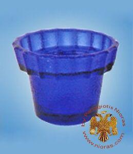 Orthodox Vigil Lamp Glass Replacement Cup 5.5 cm Ersatzglas Ikonenampel Kantili