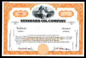 IN. Standard Oil Co., 1960s <100 Shares Specimen Stock Certificate, VF-XF ABN