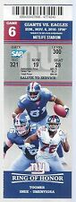 2016 NFL PHILADELPHIA EAGLES @ NEW YORK GIANTS FULL UNUSED FOOTBALL TICKET