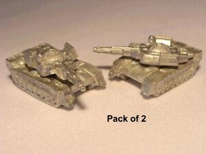 NEW BATTLETECH RAL PARTHA Miniature BT 750 ROMMEL / PATTON TANKS (2) TR 3025
