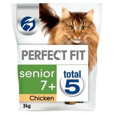 More details for 3kg perfect fit 7+ senior complete dry cat food chicken cat biscuits (4x750g)