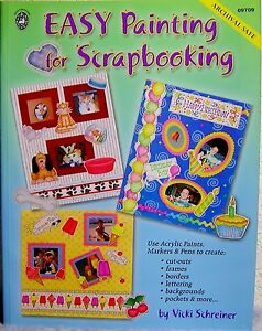 """""""Easy Painting for Scrapbooking"""" Design Pattern Book: Frames, Borders, Cut-Outs+"""