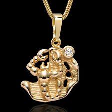 MATERIA Schlangenkette & 333 Gold Anhänger Sternzeichen Skorpion Zodiac + Box