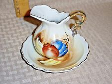 Souvenir Wash Mini Bowl and Pitcher Freeport Maine Small Ceramic Fruit Post 1940