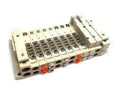 SMC SV Series 10 Slot Pneumatic Valve Manifold