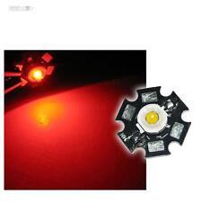 5x Haute tension LED Puce 1W ROUGE HAUTE PUISSANCE STAR LEDs
